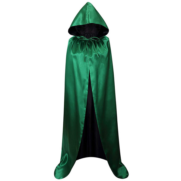 Black VGLOOK Kids Hooded Cloak Cape For Halloween Cosplay Costumes